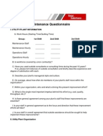O&M Questionaire