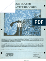 NPC Record Sheet