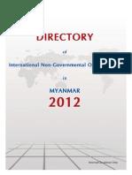 Myanmar INGO Directory 2012