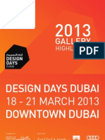 Design Days Dubai 2013 Gallery Highlights