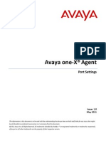Avaya One x Agents Port Setting