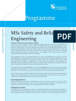 15 MSc Safety and Reliability