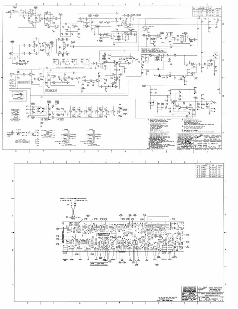 Fender Acoustasonic-30 Guitar Amplifier Schematic