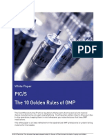 10 GOLDEN RULES OF PICS, PHARMACEUTICAL, PHARMA, cGMP, PROJECT,