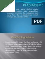 Slide  presentasi plagiat