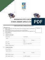 Scholarship Form