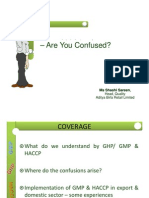 Difference Between HACCP and GMP
