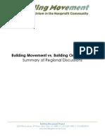 Building Movement vs. Building Organization