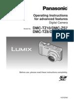 Operating Instructions for advanced features Digital Camera Model No. DMC-TZ10/DMC-ZS7 DMC-TZ8/DMC-ZS5