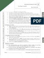 IIT JAM BioTechnology Sample Paper 3