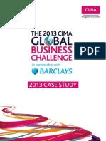 the 2013 CIMA GLOBAL BUSINESS CHALLENGE