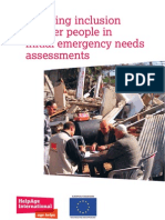 Ensuring inclusion of older people in initial emergency needs assessments