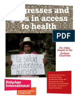 Progresses and gaps in access to health