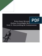 Storytelling and commission OGR