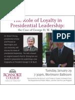 Roanoke College event Jan. 29, 2013