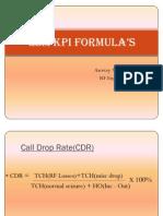 GSM KPI Formula
