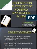 Presentation On Notepad