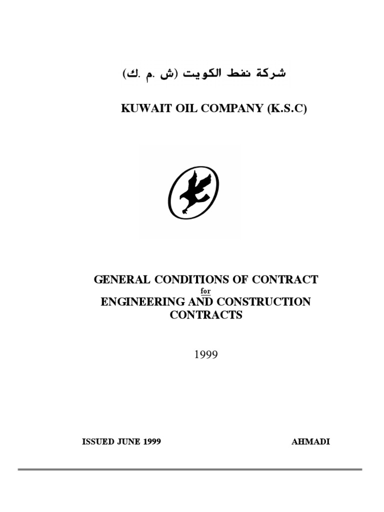 Kuwait - GENERAL CONDITIONS OF CONTRACT | Indemnity | General Contractor