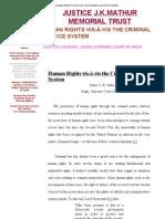 HUMAN RIGHTS VIS-À-VIS THE CRIMINAL JUSTICE SYSTEM