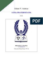 FAMA FRATERNITATIS - J.V.Andrae