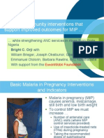 Adapting Community Interventions that Support Improved Outcomes for MIP