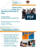 Quality Improvement of the Pre-Service Nursing and Midwifery Education in India