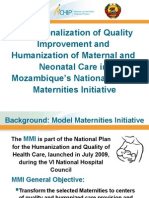 Institutionalization of Quality Improvement and Humanization of Maternal and Neonatal Care in Mozambique's National Model Maternities Initiative