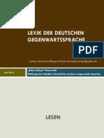LEXIK DER DEUTSCHEN GEGENWARTSSPRACHE