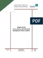 Access-egress,materaials handling for plant