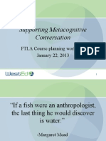 Supporting Metacognitive Conversation