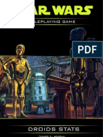 Star Wars RPG Droid Stats