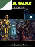 Star Wars RPG Droid Stats