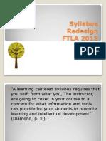 Syllabus Redesign