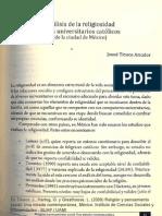 Análisis de la religiosidad de los universitarios católicos (de la Ciudad de México)