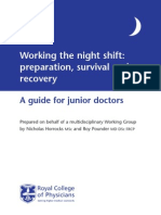 Working the night shift: preparation, survival and recovery
