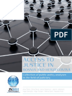 ACCESS TO JUSTICE IN BOSNIA AND HERZEGOVINA