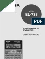 Sharp Financial Calculator Manual EL738