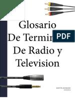 Glosario de Terminos de Radio y Television
