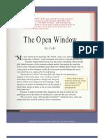 the open window analysis saki narration documents similar to the open window analysis