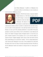Proposal on Shakespeare