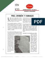 Levapan Boletin Tecnico 013 - Peso, Division y Formado