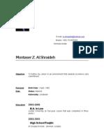 Montaser Shraideh Resume