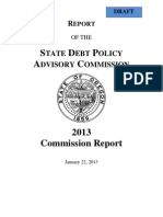 State Debt Policy Commission Report 2013