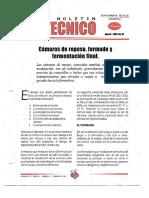 Levapan Boletin Tecnico 032 - Camaras de Reposo, Formado y Fermentacion Final