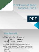 AP Calculus AB Exam, Number 6 2007