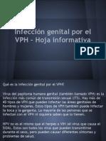 Infección genital por el VPH – Hoja informativa