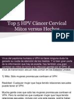 Top 5 HPV Cáncer Cervical Mitos versus Hechos
