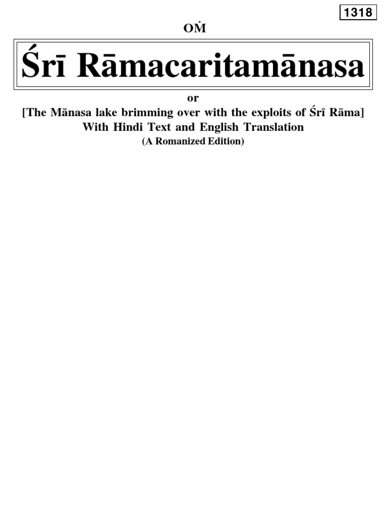 Ramcharitmanasunlocked | Translations | Religious Belief And Doctrine