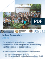 Hasho Foundation Updated Report for Rotary International Books for the World Booklegger Summit III League City, January 20-21, 2013
