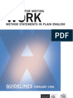 Writing Work Method Statement Plain English Guidelines 0231